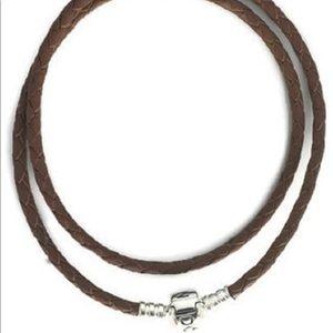 Authentic Pandora Leather Bracelet- Brown
